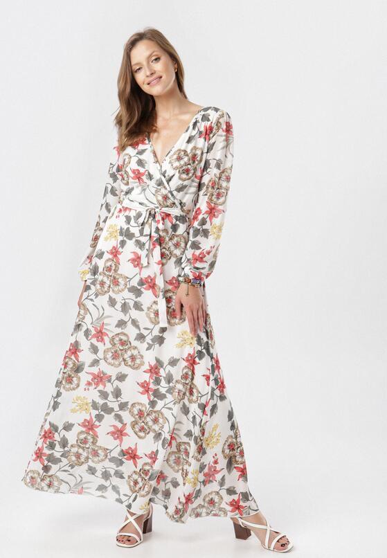 Biało-Szara Sukienka Doryrianne