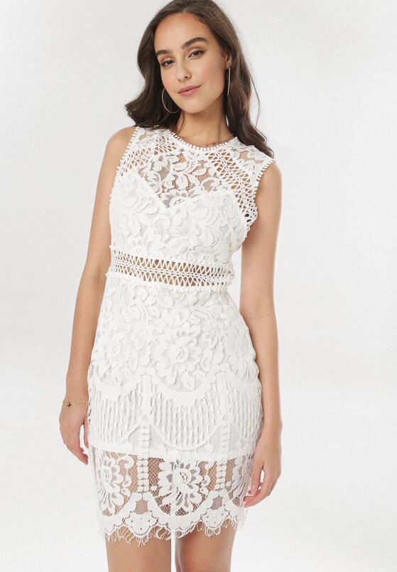 Biała Sukienka Phiaphonos