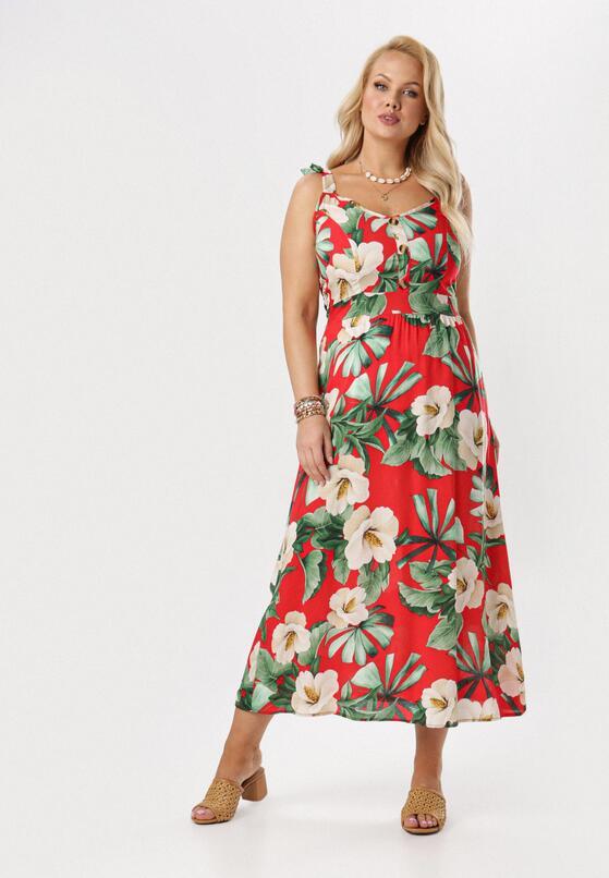 Czerwona Sukienka Poreirise
