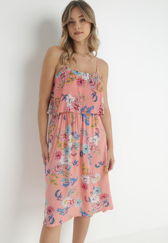 Ciemnoróżowa Sukienka Pheriye