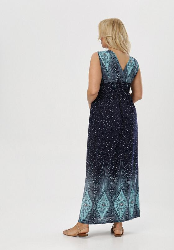 Granatowo-Miętowa Sukienka Aquavien