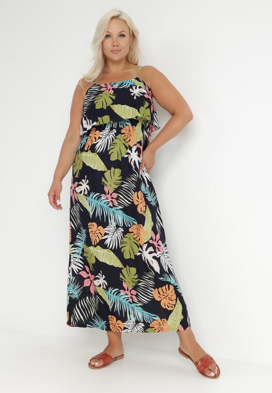 Granatowa Sukienka Morgarenna