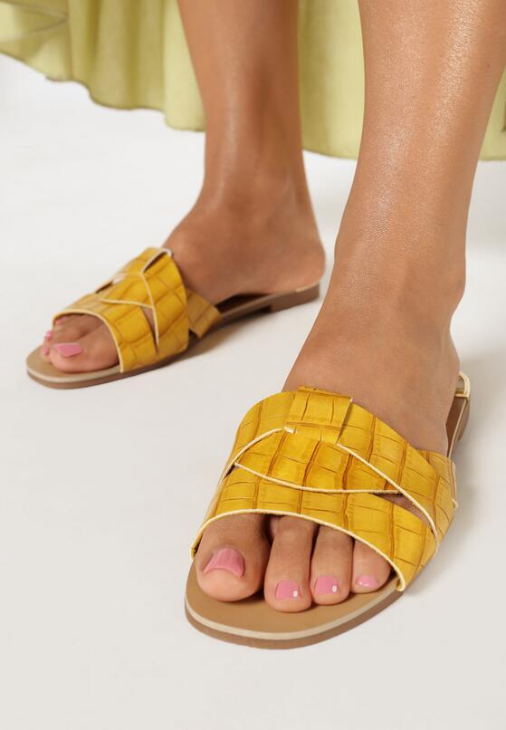 Żółte Klapki Yaney