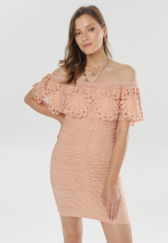 Łososiowa Sukienka Genitune