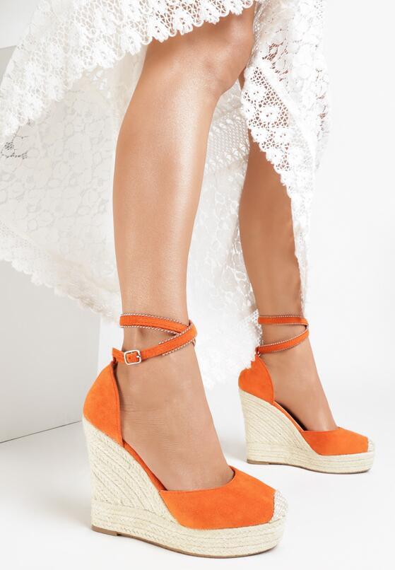 Pomarańczowe Sandały Neamerise