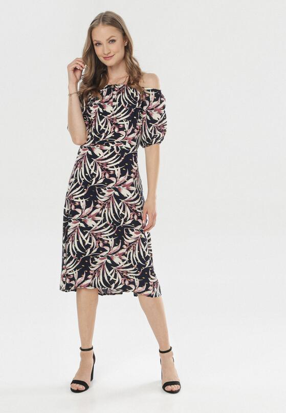 Granatowa Sukienka Aglaorodia