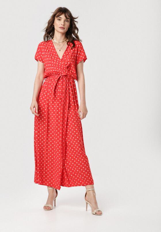 Czerwona Sukienka Delmaros