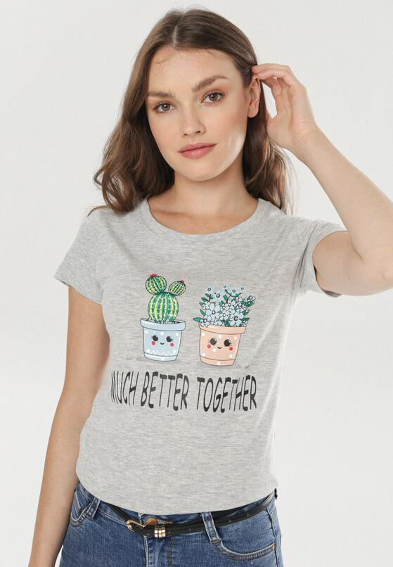 Jasnoszary T-shirt Saloronis