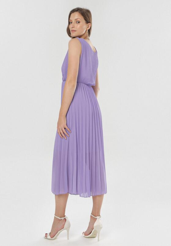 Ciemnofioletowa Sukienka Dorealure