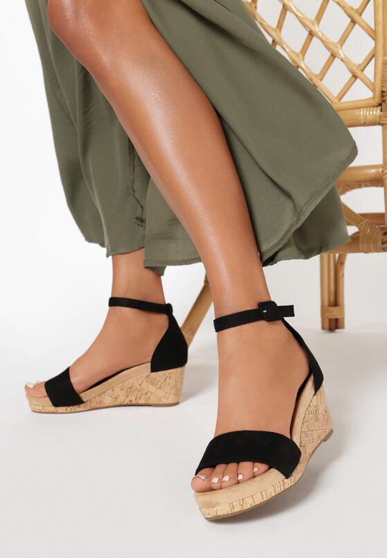 Czarne Sandały Lorailyn