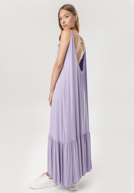 Fioletowa Sukienka Adrelei