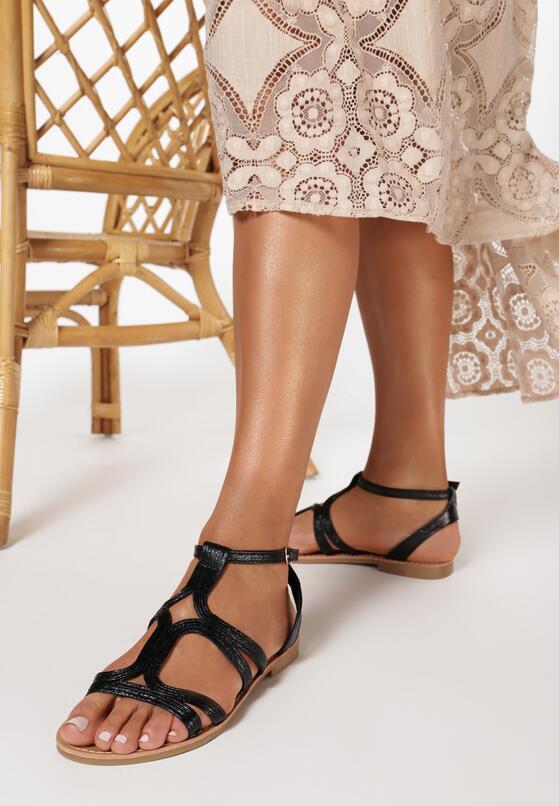Czarne Sandały Mirarenna