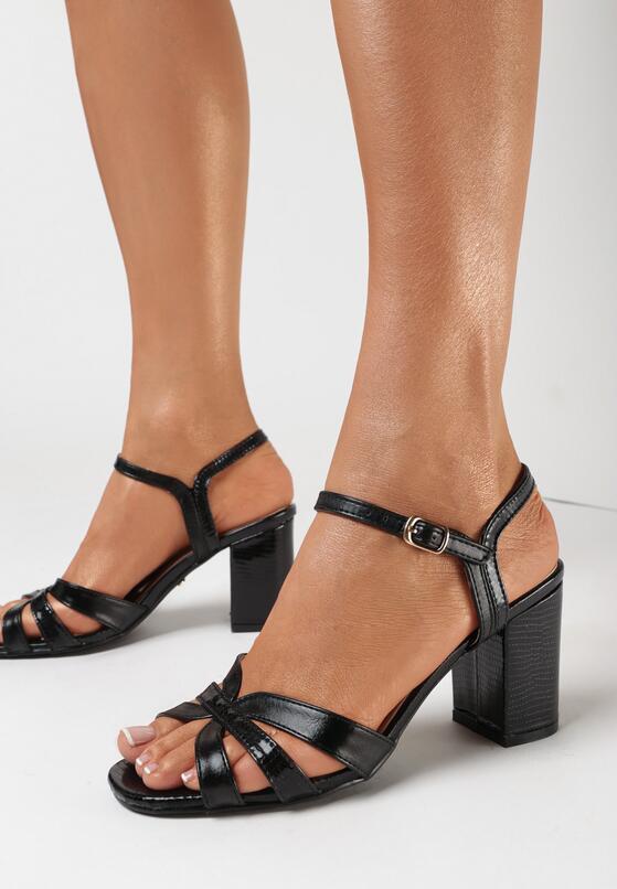 Czarne Sandały Lamenise