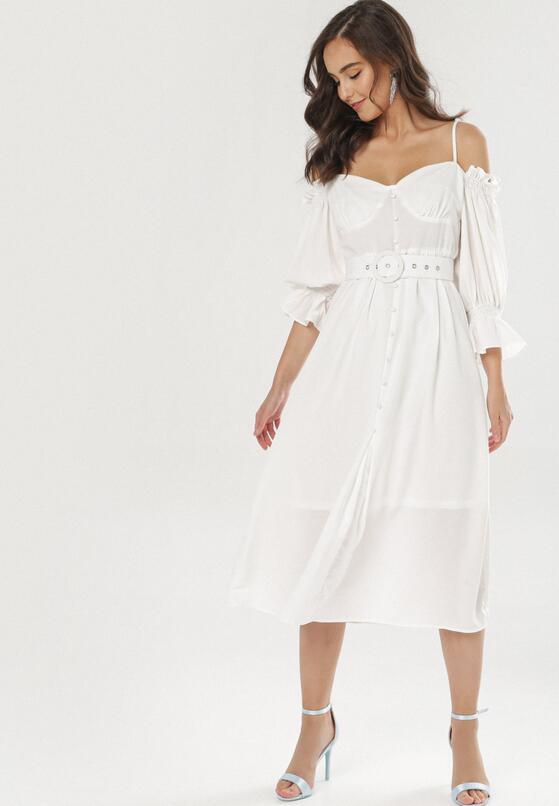 Biała Sukienka Amalaeno