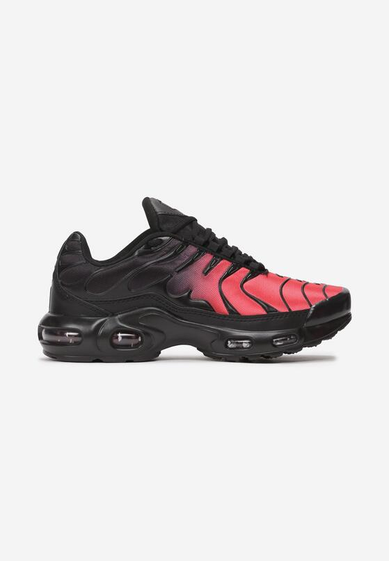 Czarno-Czerwone Buty Sportowe Mellora