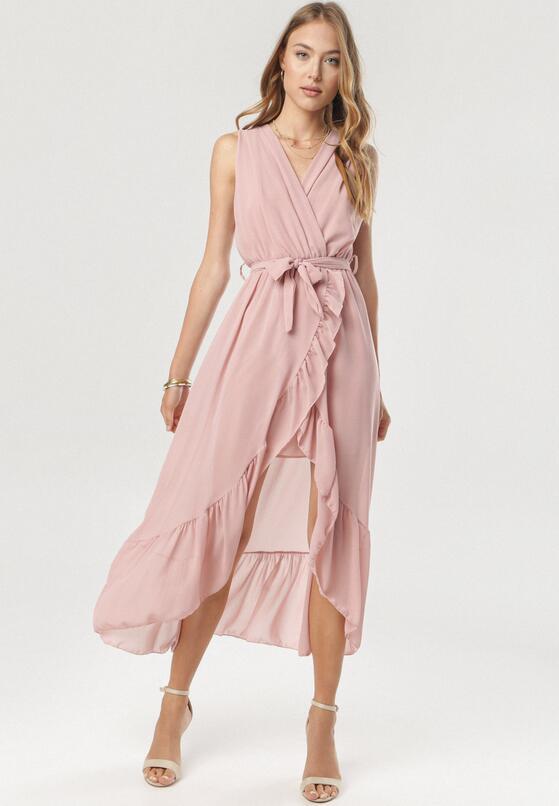Ciemnoróżowa Sukienka Morecea