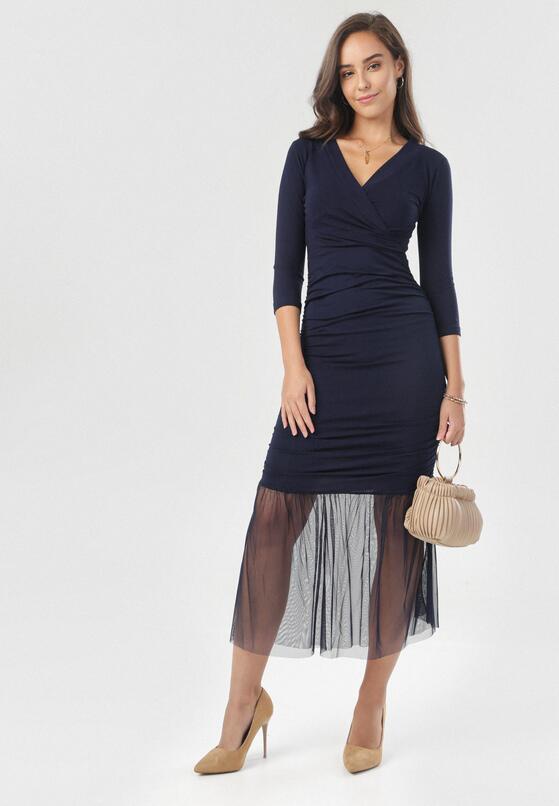 Granatowa Sukienka Nerigale