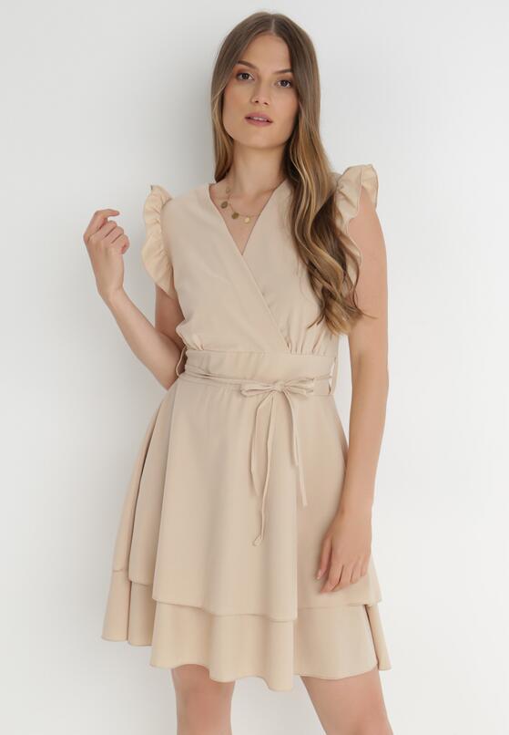 Jasnobeżowa Sukienka Ermenegilda