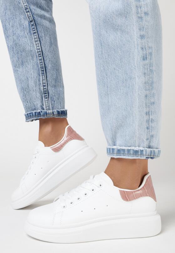 Biało-Różowe Sneakersy Neamesa