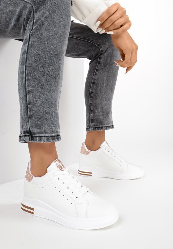 Biało-Szampańskie Sneakersy Xanthe