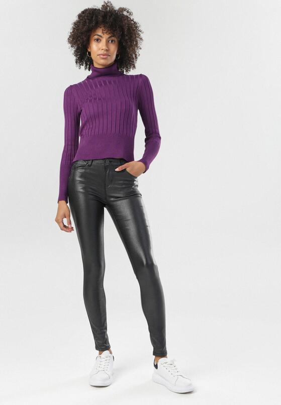 Czarne Spodnie Skinny Miraria