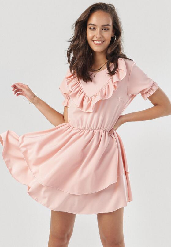 Jasnoróżówa Sukienka Astereisis