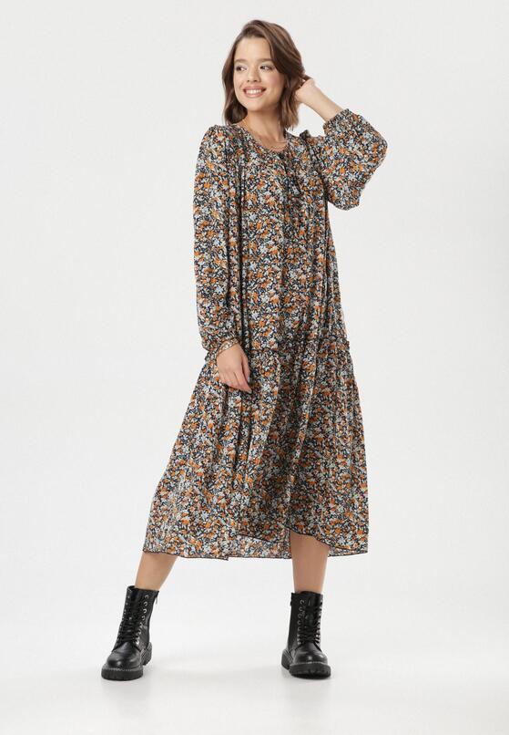 Granatowa Sukienka Mayarena