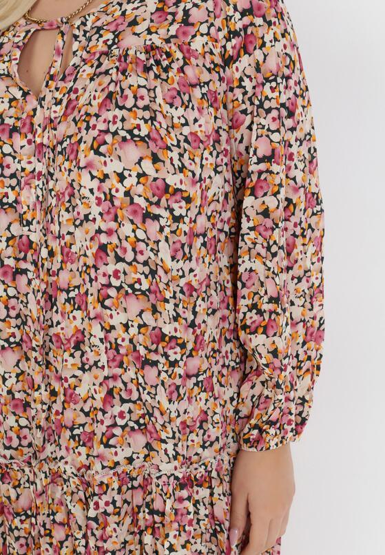 Czarno-Różowa Sukienka Coranisse