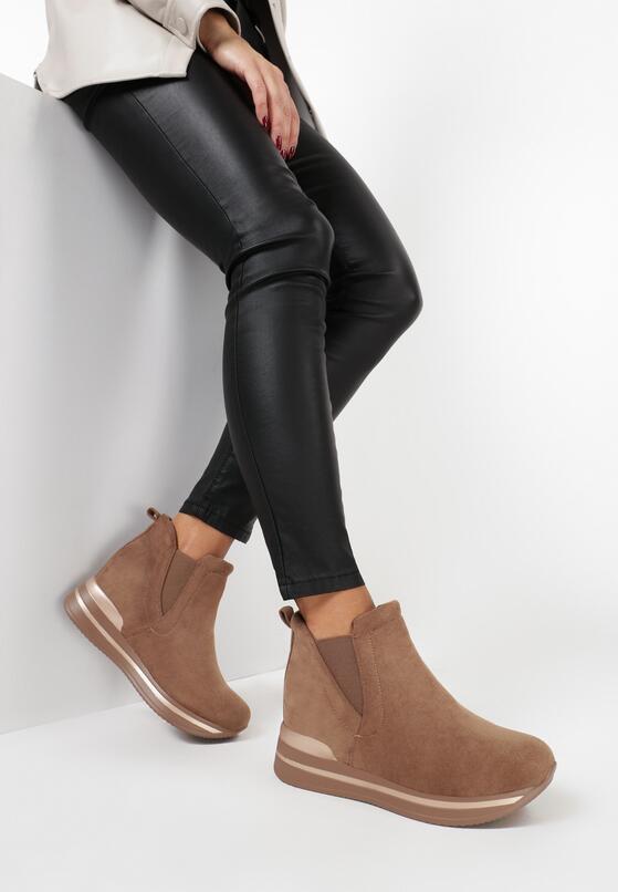 Camelowe Sneakersy Ilenolla