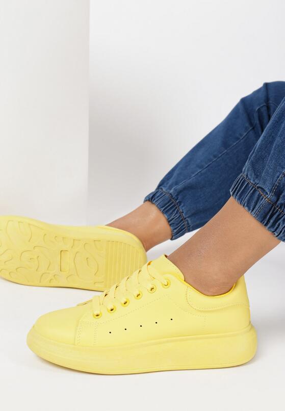 Żółte Sneakersy Thashi