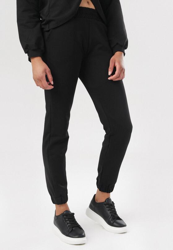 Czarne Spodnie Dresowe Felyera