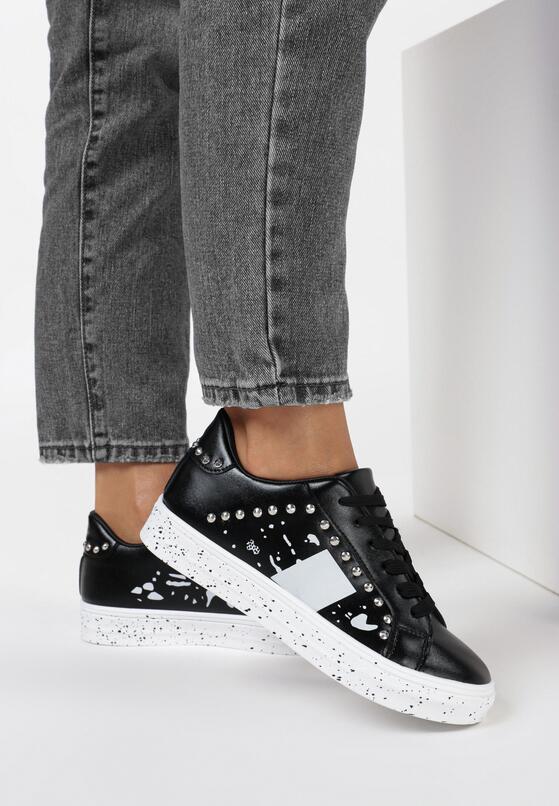 Czarne Sneakersy Olenea