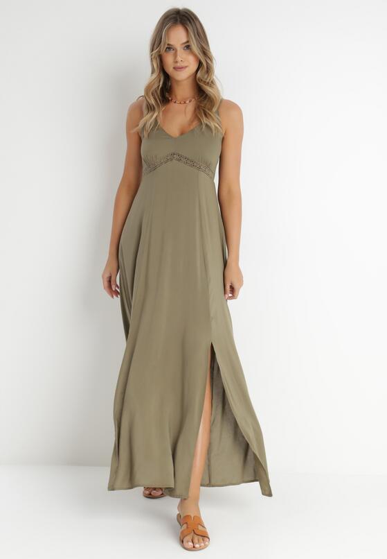 Ciemnozielona Sukienka Zellrelle