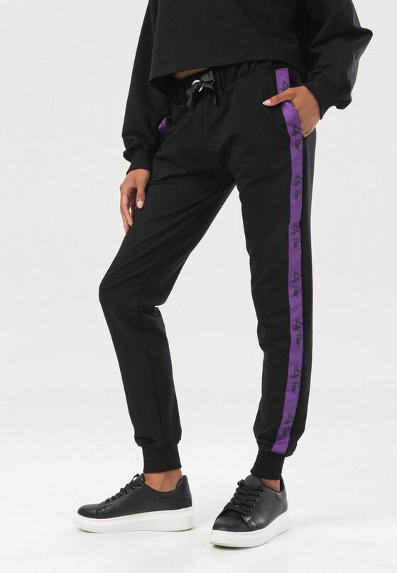 Czarne Spodnie Dresowe Cerifera