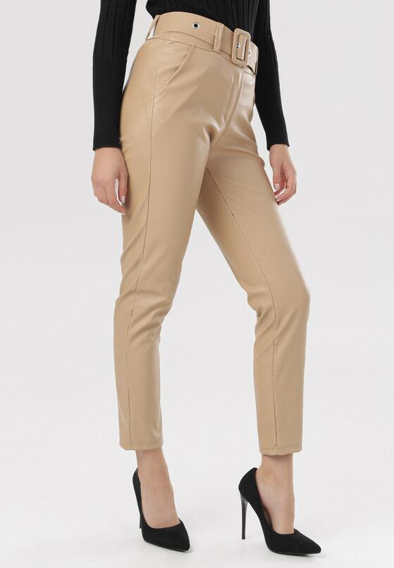 Jasnobeżowe Spodnie Vilinera