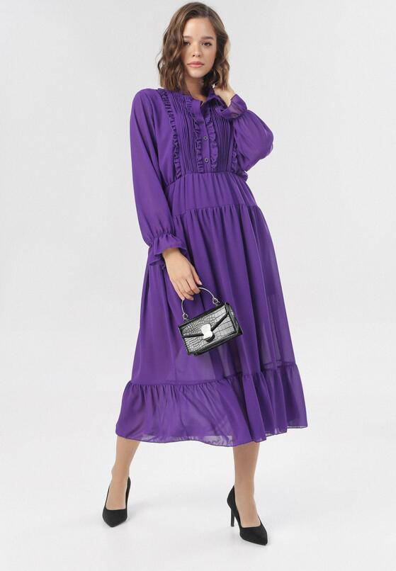 Fioletowa Sukienka Ariesreia