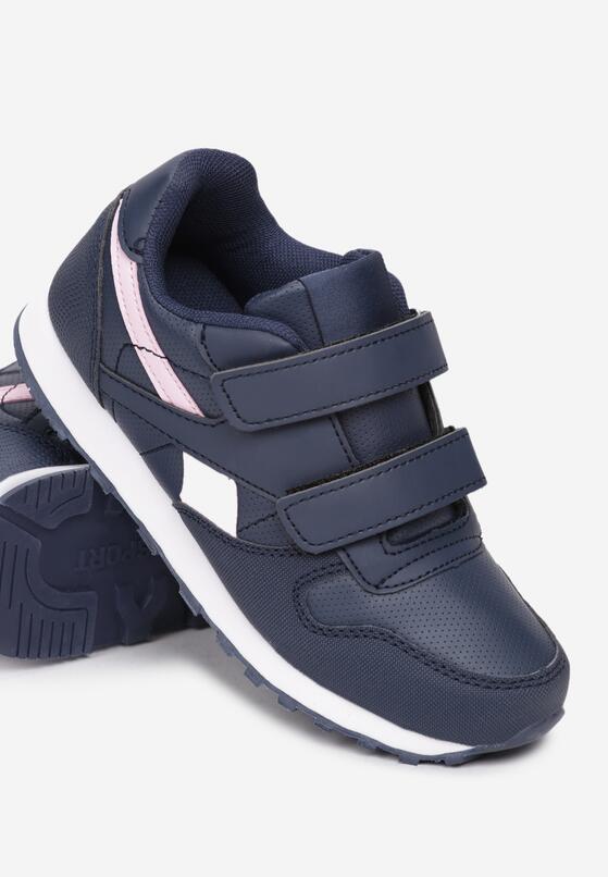 Granatowo-Różowe Buty Sportowe Estralita