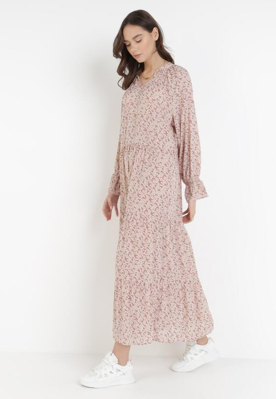 Ciemnoróżowa Sukienka Heltyse