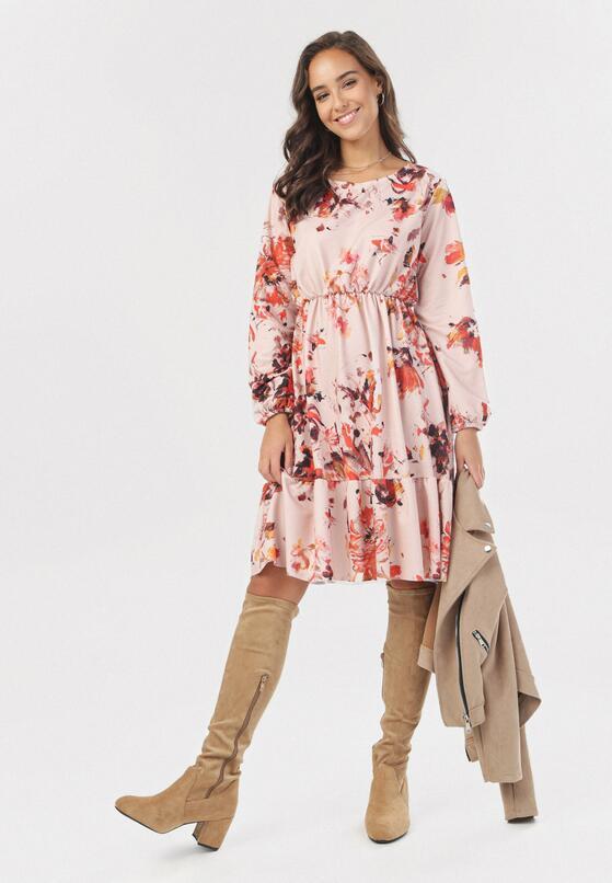 Różowa Sukienka Jesenia