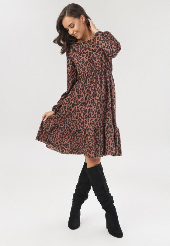Panterkowa Sukienka Jesenia