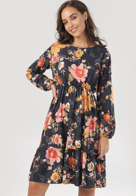 Niebiesko-Różowa Sukienka Jesenia