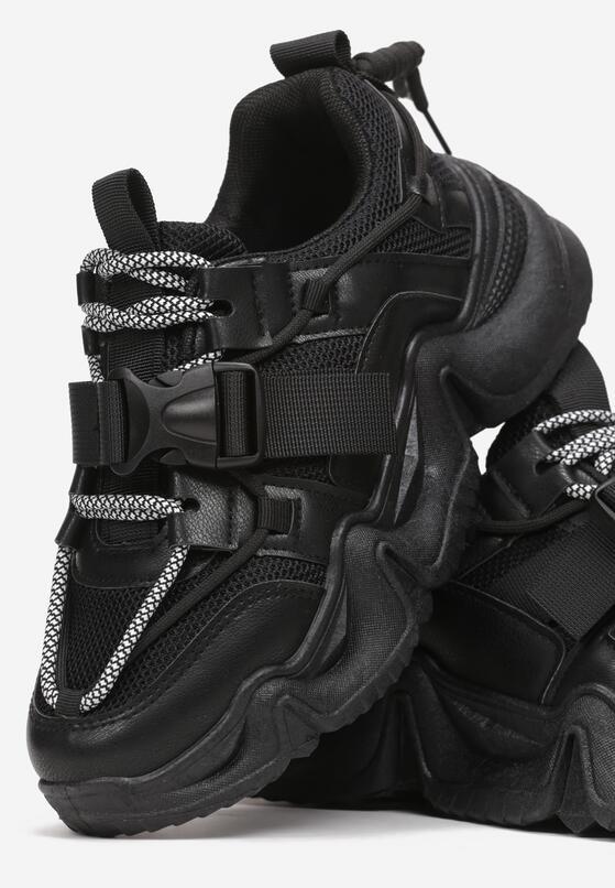 Czarne Sneakersy Barbarea