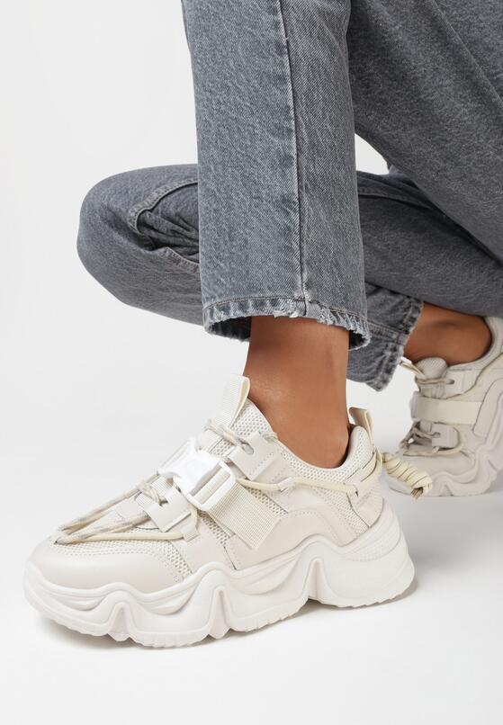Beżowe Sneakersy Barbarea