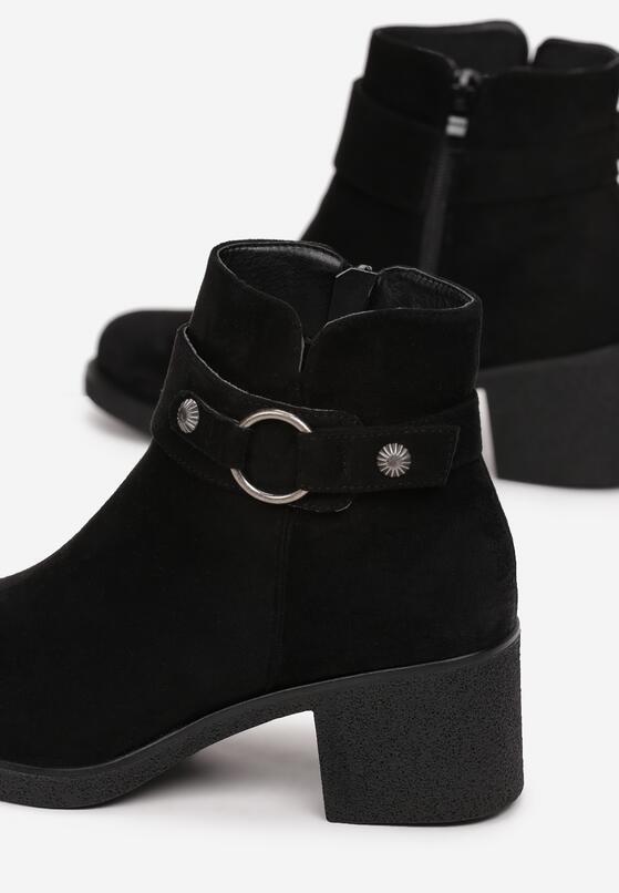 Czarne Botki Mahoganis