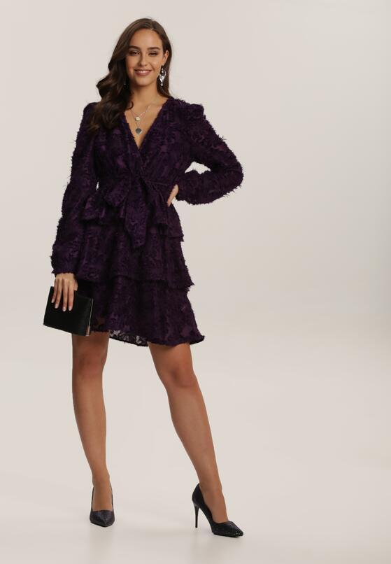 Fioletowa Sukienka Alcinne