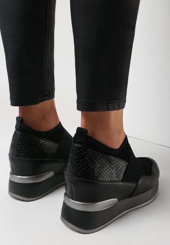 Czarne Sneakersy Mapeloris