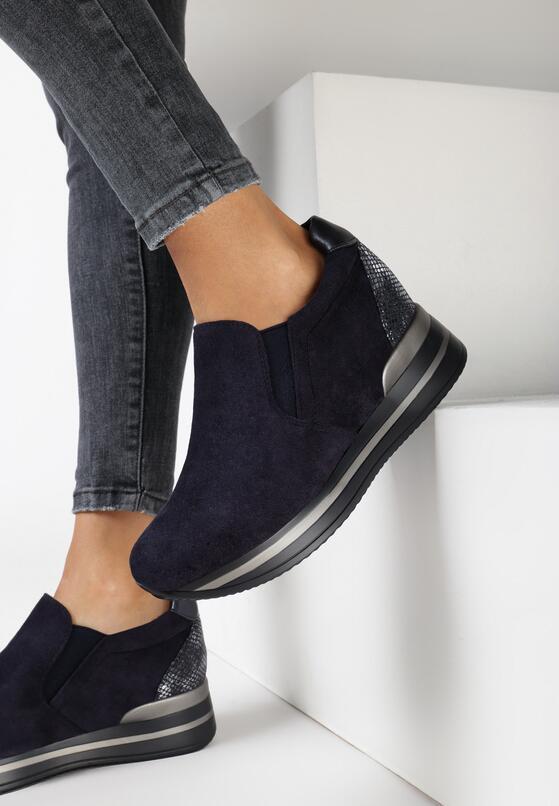 Granatowe Sneakersy Euthami