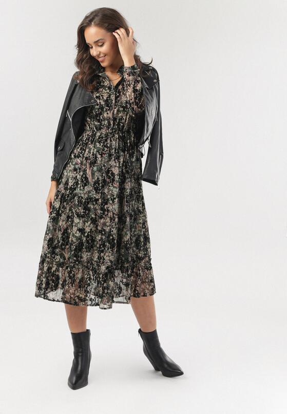 Ciemnozielona Sukienka Amalthelia