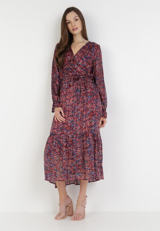Bordowa Sukienka Ethemea