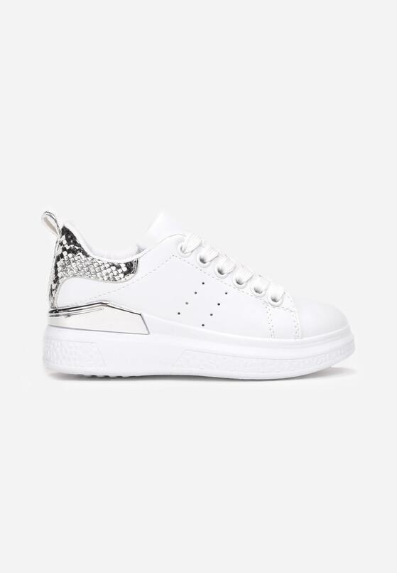 Biało-Srebrne Buty Sportowe Brizreia